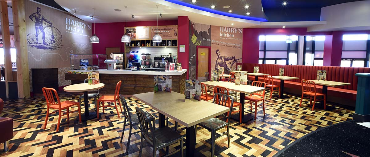 Bespoke joinery for Hollywood Bowl Cafe