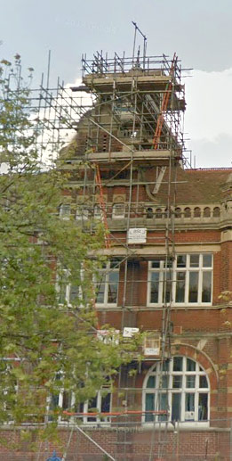 Craneswater School Bell Tower before renewal - picture from Google