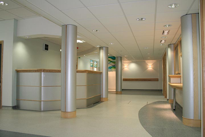 hospital reception desk information desks  hospitals install bespoke furniture refurbish