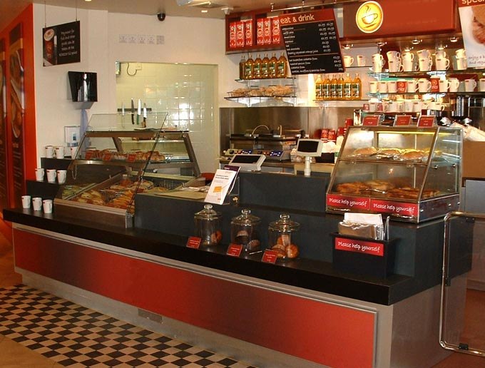 Coffee Counters Motorway Services Food Outlet Joinery